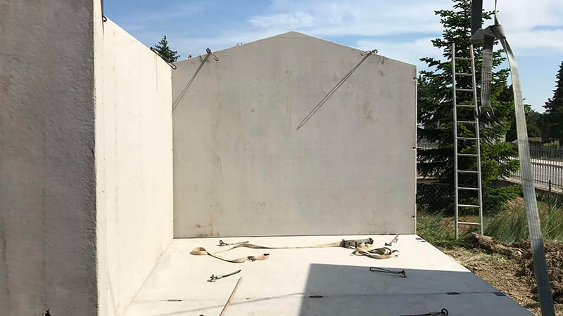 3 Garage - Montaggio pareti
