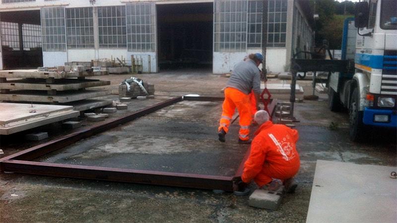 fase costruzione modulo abitativo
