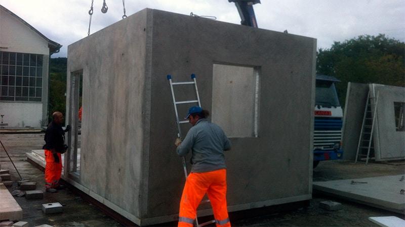 montaggio pareti modulo abitativo