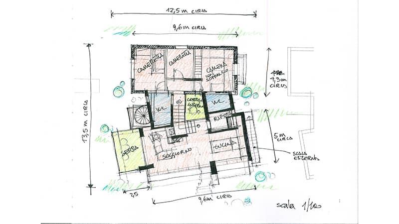 planimetria casa prefabbricata