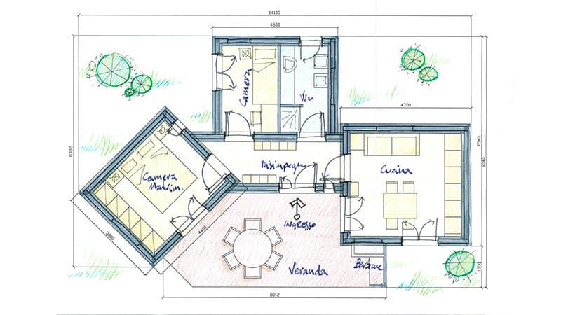 planimetria casa prefabbricate