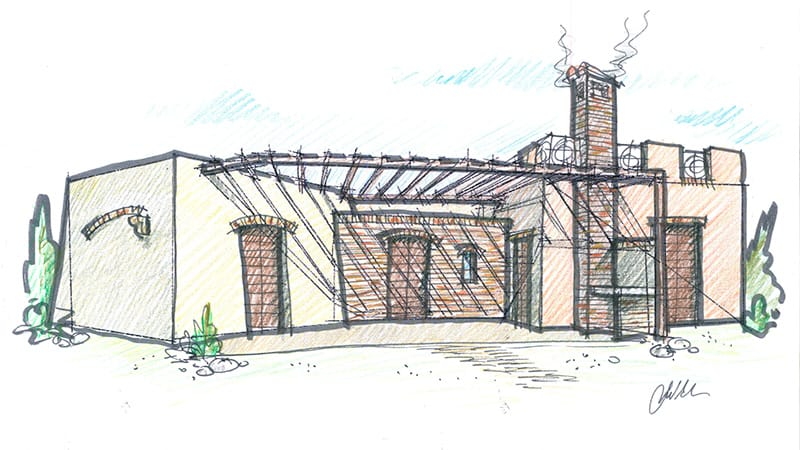 disegni prospettico casa prefabbricata
